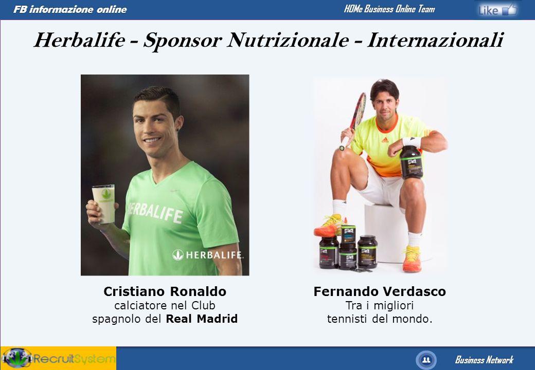 FB informazione online Business Network HOMe Business Online Team Herbalife - Sponsor Nutrizionale - Internazionali Fernando Verdasco Tra i migliori t