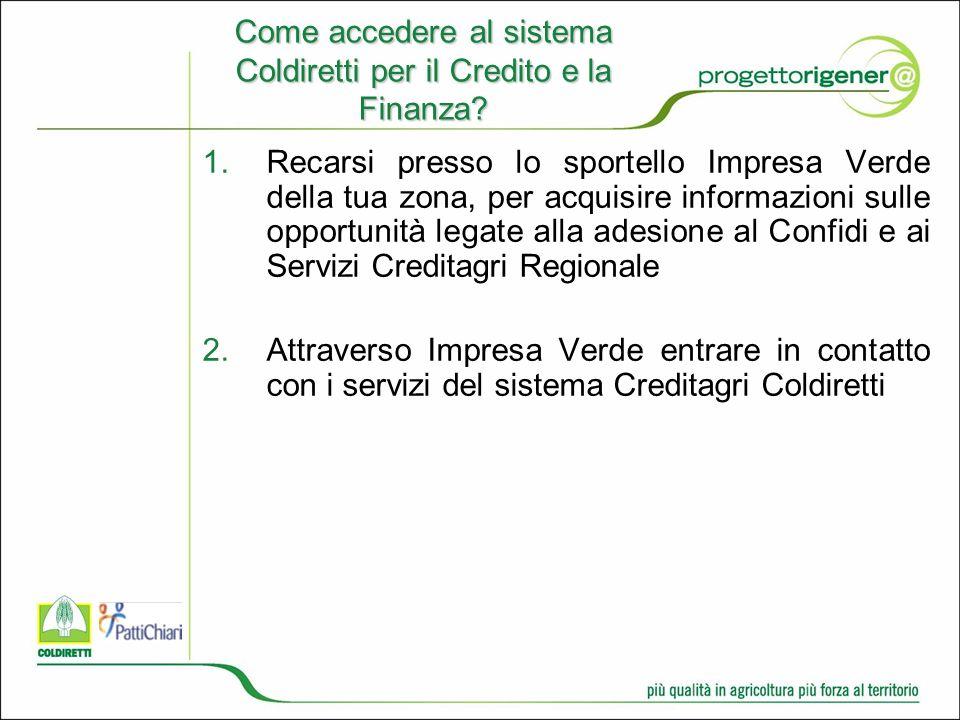 Come accedere al sistema Coldiretti per il Credito e la Finanza.
