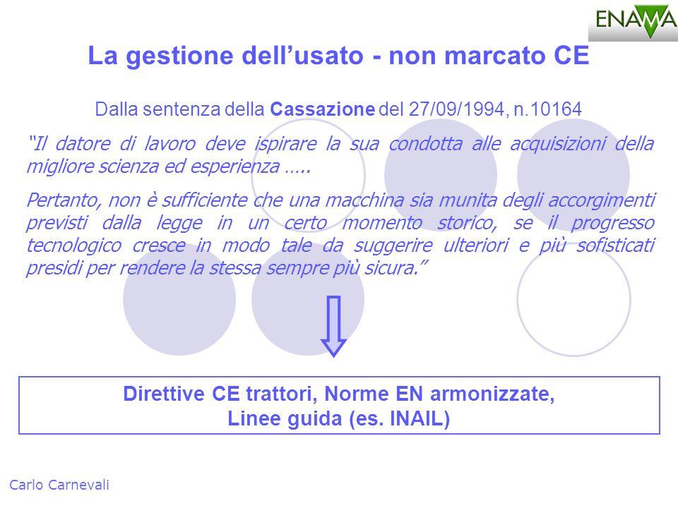 Dalla sentenza della Cassazione del 27/09/1994, n.10164 Il datore di lavoro deve ispirare la sua condotta alle acquisizioni della migliore scienza ed