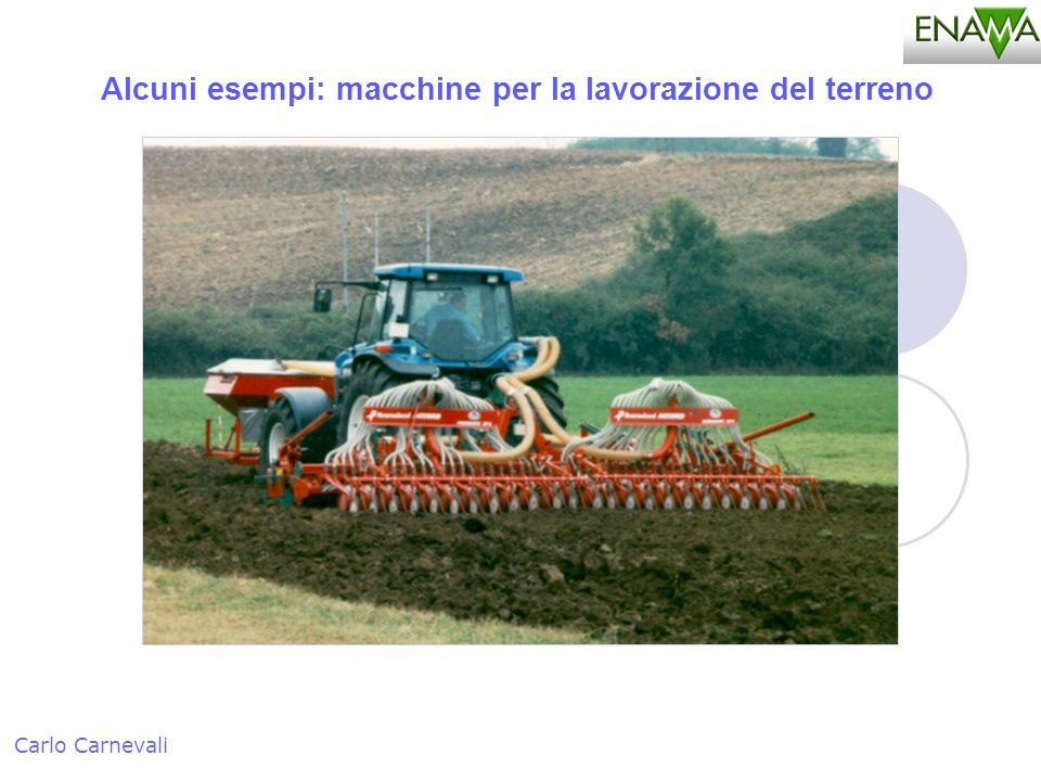 Alcuni esempi: macchine per la lavorazione del terreno Carlo Carnevali