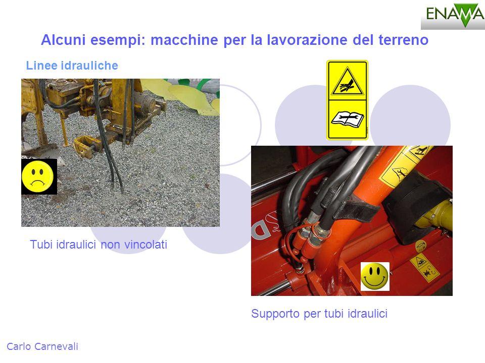 Alcuni esempi: macchine per la lavorazione del terreno Carlo Carnevali Linee idrauliche Tubi idraulici non vincolati Supporto per tubi idraulici