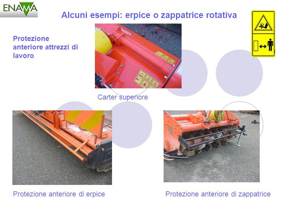 Alcuni esempi: erpice o zappatrice rotativa Carter superiore Protezione anteriore di erpice Protezione anteriore attrezzi di lavoro Protezione anterio
