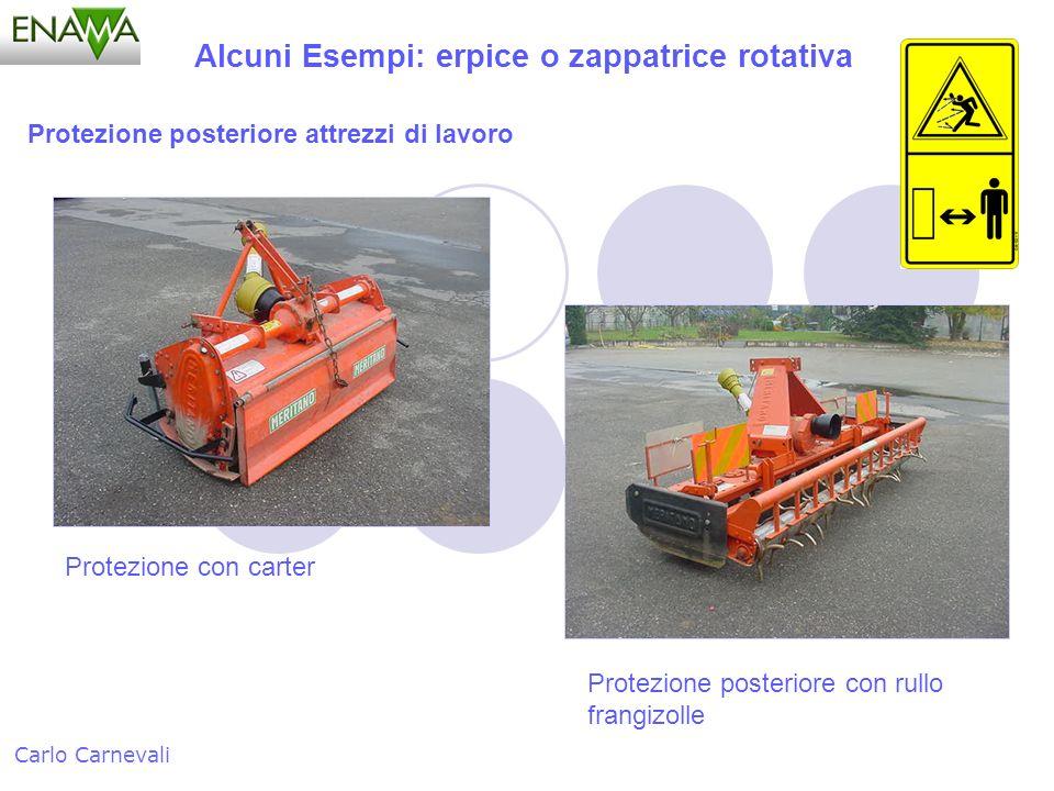 Alcuni Esempi: erpice o zappatrice rotativa Carlo Carnevali Protezione posteriore attrezzi di lavoro Protezione con carter Protezione posteriore con r
