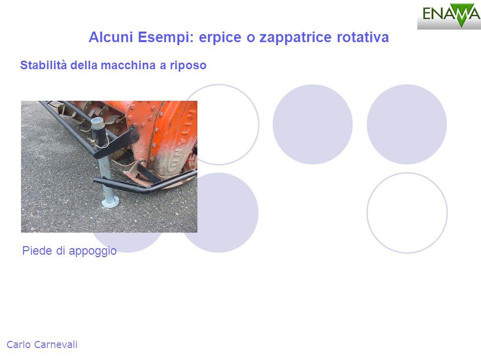 Alcuni Esempi: erpice o zappatrice rotativa Carlo Carnevali Piede di appoggio Stabilità della macchina a riposo