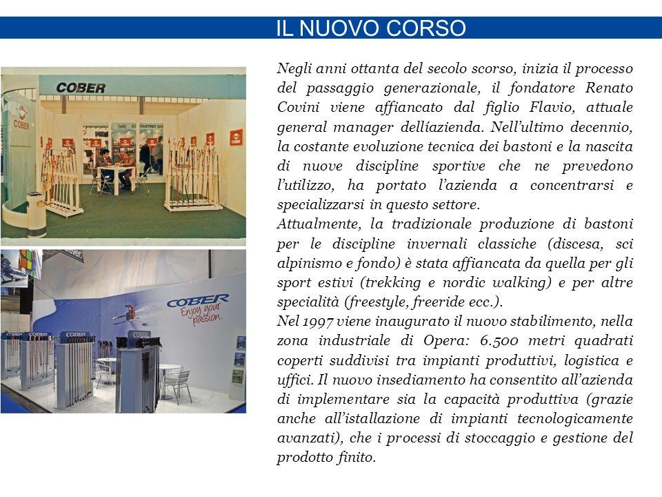 IL NUOVO CORSO Negli anni ottanta del secolo scorso, inizia il processo del passaggio generazionale, il fondatore Renato Covini viene affiancato dal figlio Flavio, attuale general manager dellíazienda.