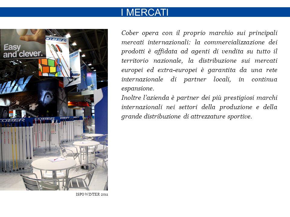 I MERCATI Cober opera con il proprio marchio sui principali mercati internazionali: la commercializzazione dei prodotti è affidata ad agenti di vendita su tutto il territorio nazionale, la distribuzione sui mercati europei ed extra-europei è garantita da una rete internazionale di partner locali, in continua espansione.