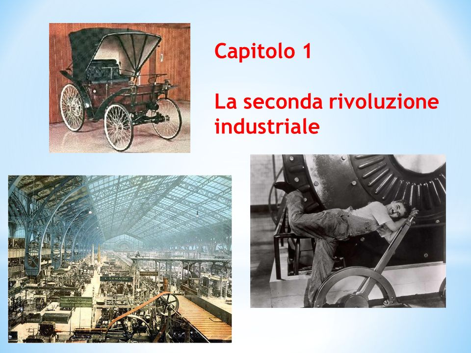 Aumento della produzione Utilizzo di nuove macchine Concentrazione dei lavoratori in uno stesso luogo, la «fabbrica» Impiego di macchine più efficienti Suddivisione delle attività tra più operai
