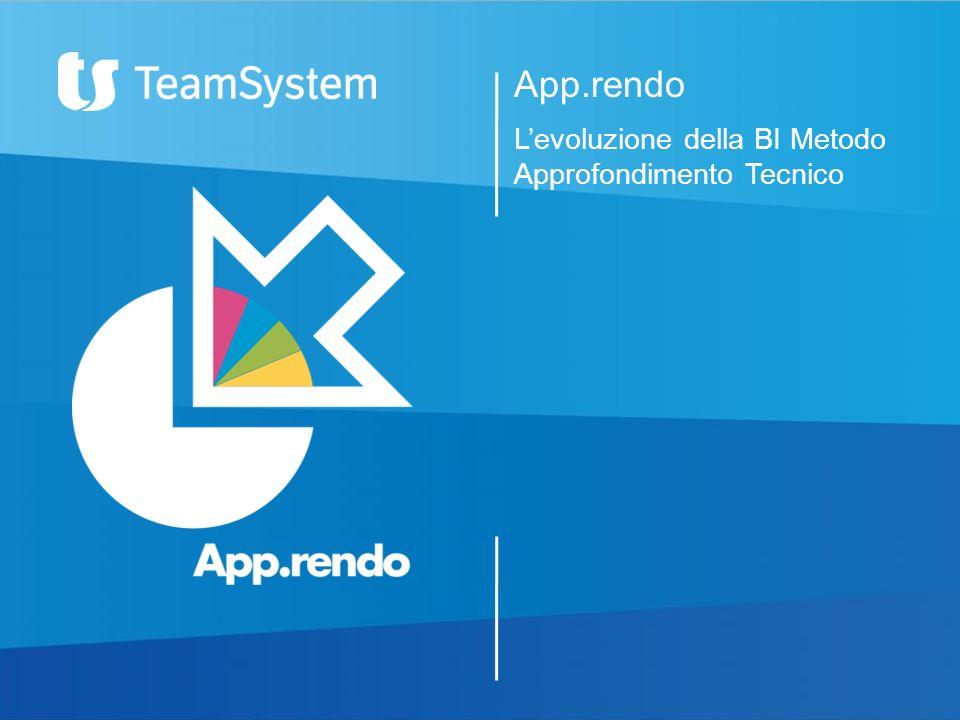 App.rendo Levoluzione della BI Metodo Approfondimento Tecnico