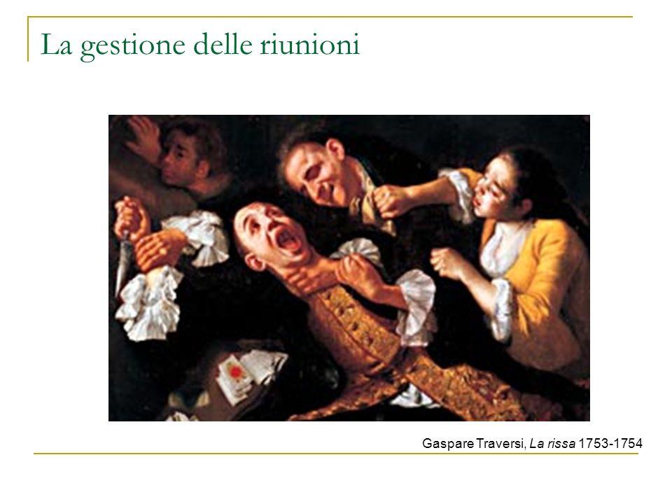 La gestione delle riunioni Gaspare Traversi, La rissa 1753-1754