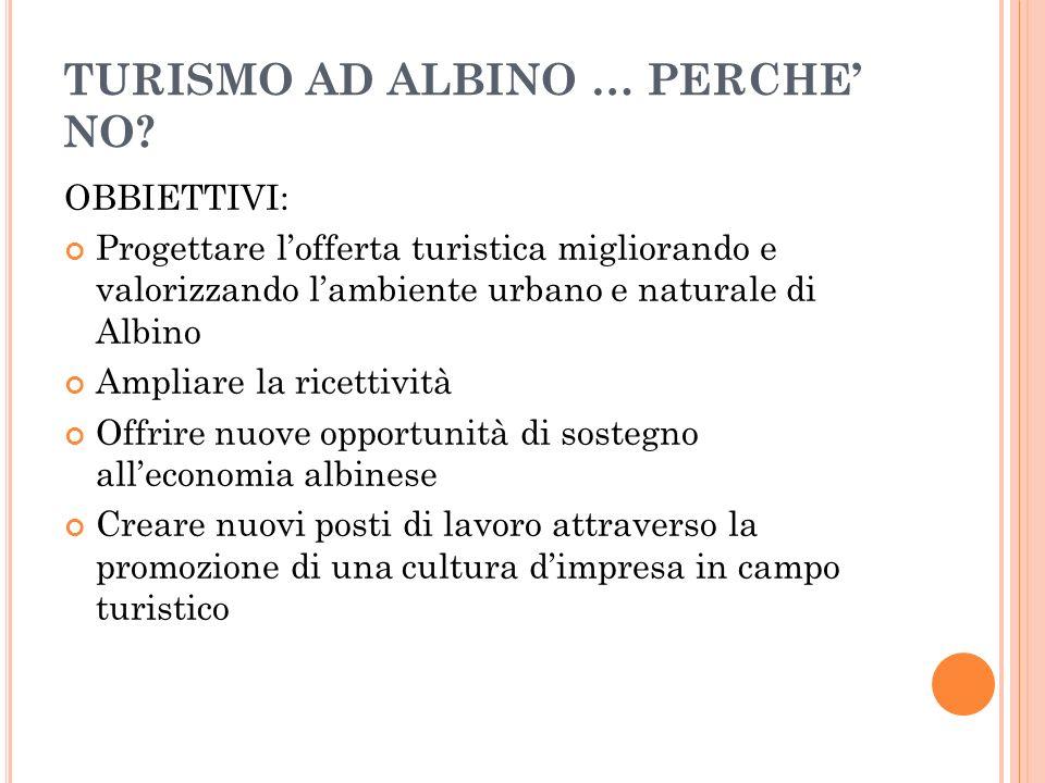 TURISMO AD ALBINO … PERCHE NO.
