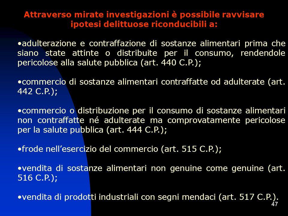 46 amministrative, per prodotti confezionati, riconducibili principalmente al Decreto Legislativo 27.01.1992 n.109, concernente letichettatura, la pre