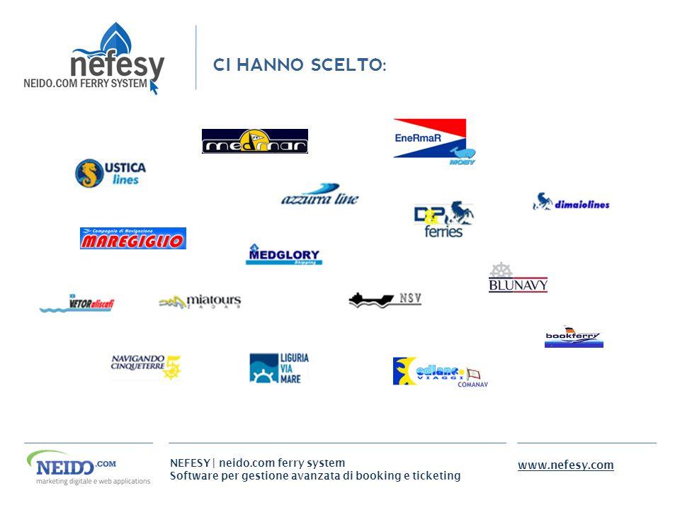 NEFESY | neido.com ferry system Software per gestione avanzata di booking e ticketing www.nefesy.com CI HANNO SCELTO:
