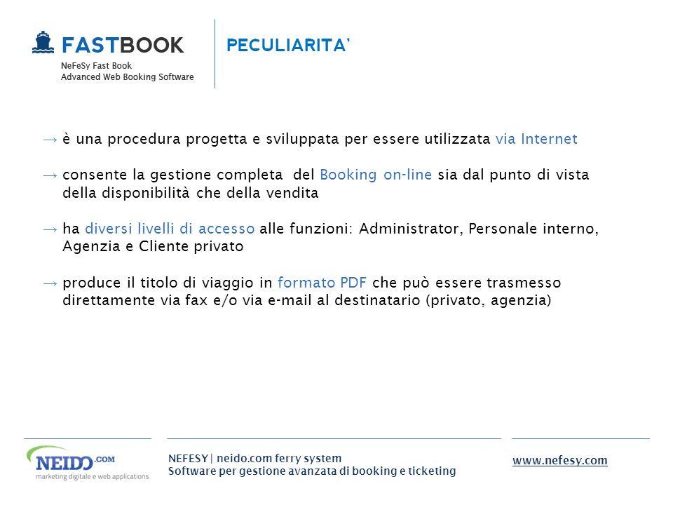 NEFESY | neido.com ferry system Software per gestione avanzata di booking e ticketing www.nefesy.com è una procedura progetta e sviluppata per essere