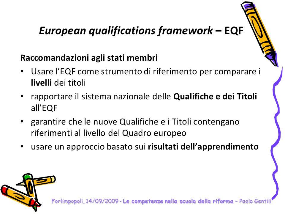 Forlimpopoli, 14/09/2009 - Le competenze nella scuola della riforma – Paolo Gentili Le competenze Cosa centrano gli obiettivi specifici dapprendimento.
