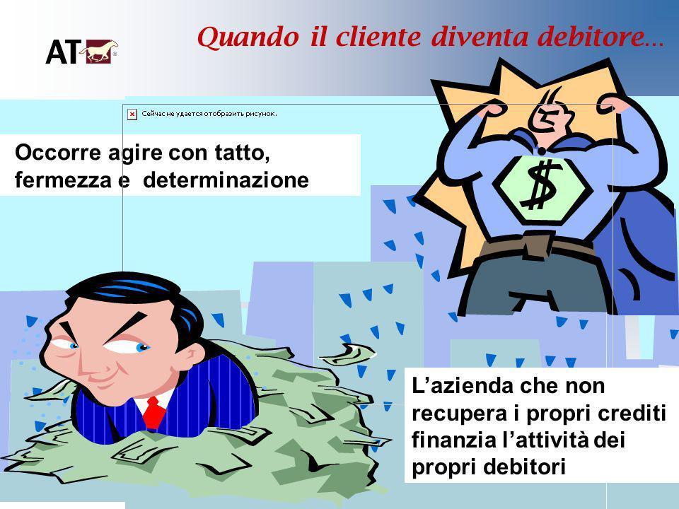 Quando il cliente diventa debitore... Occorre agire con tatto, fermezza e determinazione Lazienda che non recupera i propri crediti finanzia lattività