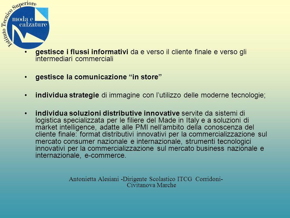 gestisce i flussi informativi da e verso il cliente finale e verso gli intermediari commerciali gestisce la comunicazione in store individua strategie
