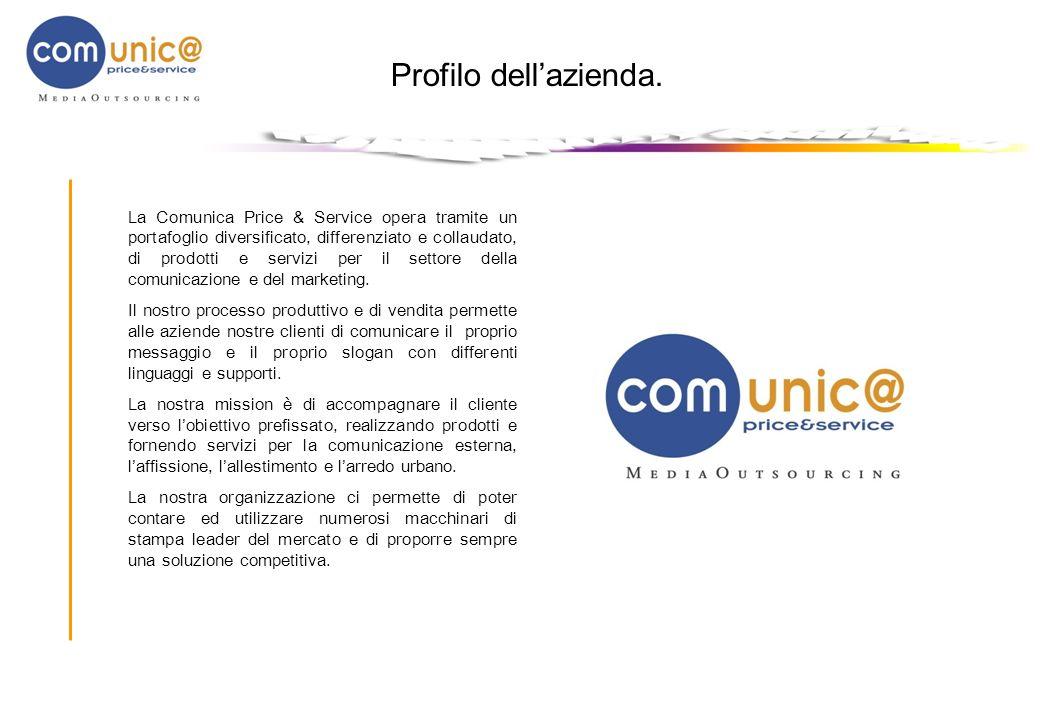 Profilo dellazienda. La Comunica Price & Service opera tramite un portafoglio diversificato, differenziato e collaudato, di prodotti e servizi per il