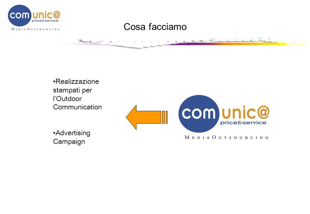 Cosa facciamo Realizzazione stampati per lOutdoor Communication Advertising Campaign
