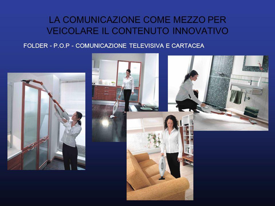 LA COMUNICAZIONE COME MEZZO PER VEICOLARE IL CONTENUTO INNOVATIVO FOLDER - P.O.P - COMUNICAZIONE TELEVISIVA E CARTACEA