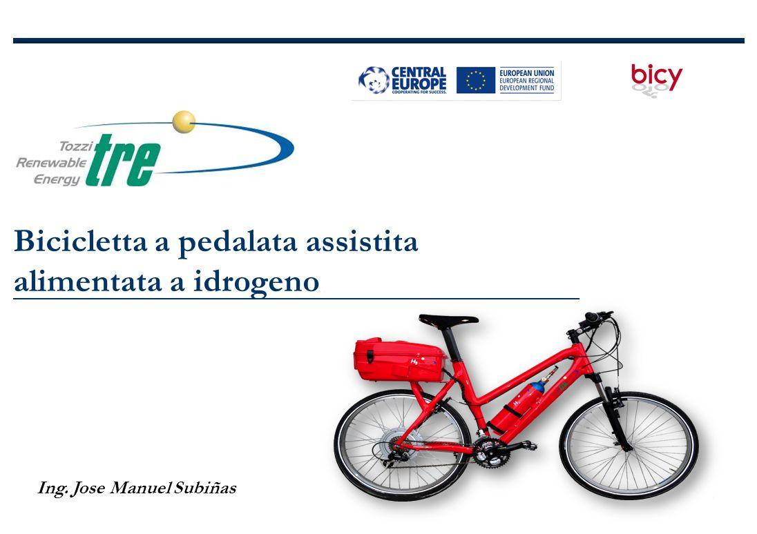 Bicicletta a pedalata assistita alimentata a idrogeno Ing. Jose Manuel Subiñas