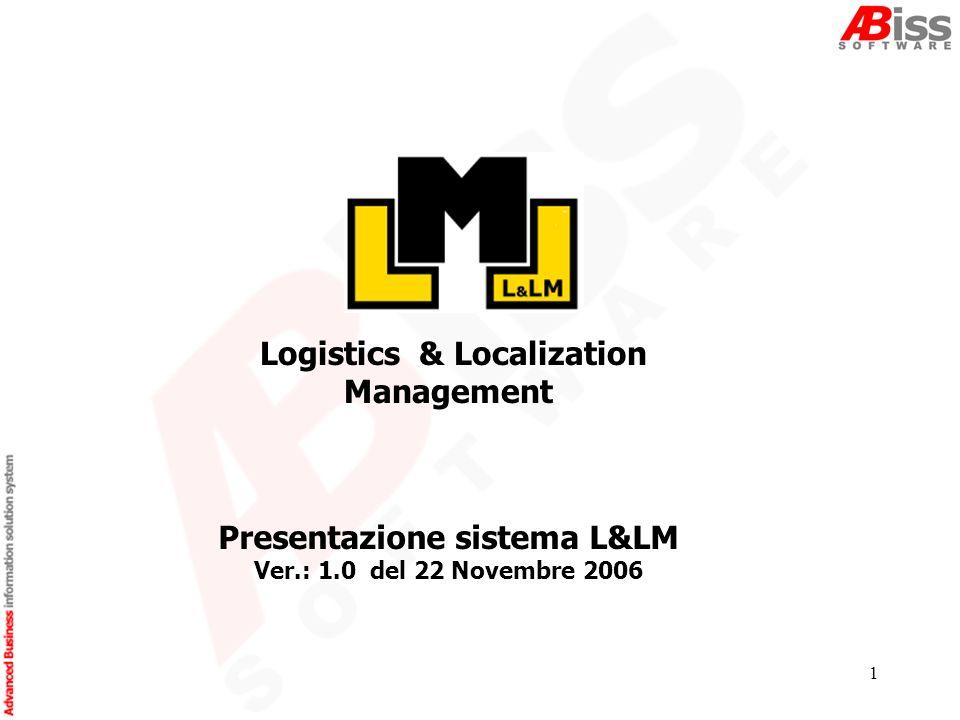 1 Logistics & Localization Management Presentazione sistema L&LM Ver.: 1.0 del 22 Novembre 2006