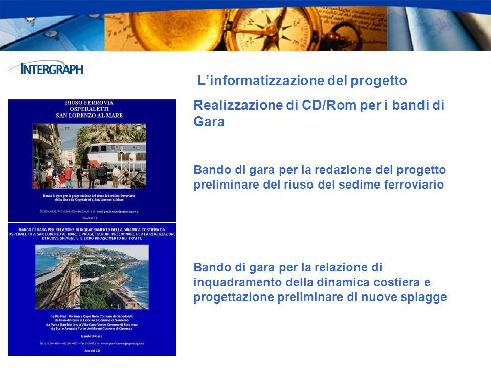 Linformatizzazione del progetto Realizzazione di CD/Rom per i bandi di Gara Bando di gara per la redazione del progetto preliminare del riuso del sedi