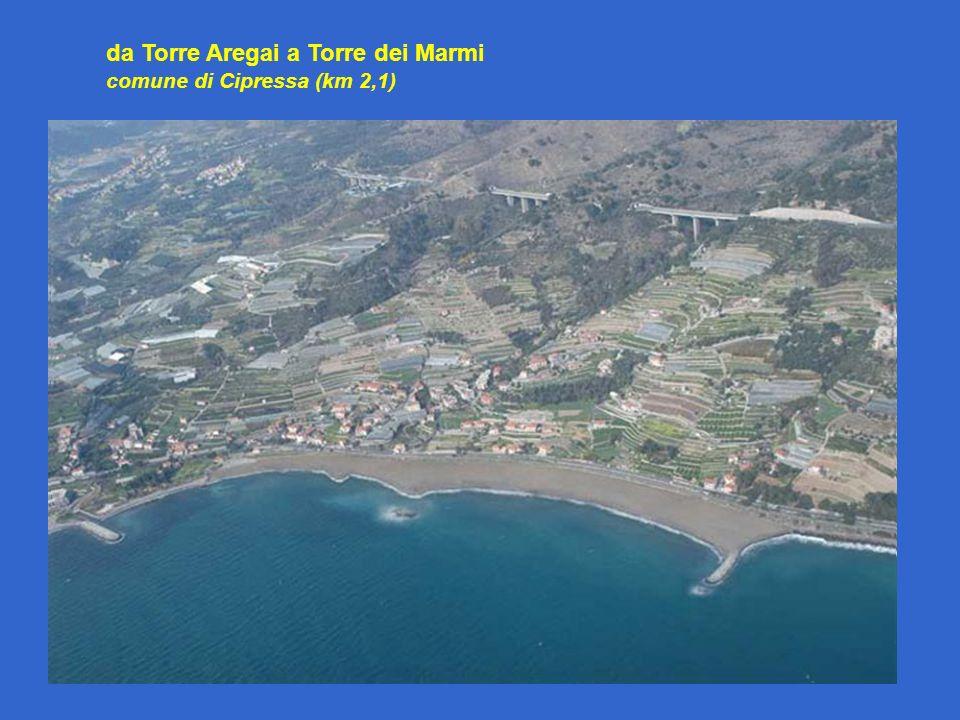 da Torre Aregai a Torre dei Marmi comune di Cipressa (km 2,1)
