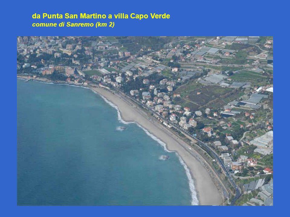 da Punta San Martino a villa Capo Verde comune di Sanremo (km 2)