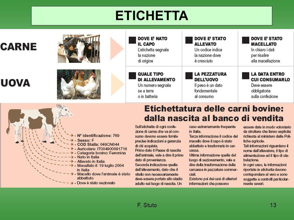F. Stuto13 ETICHETTA