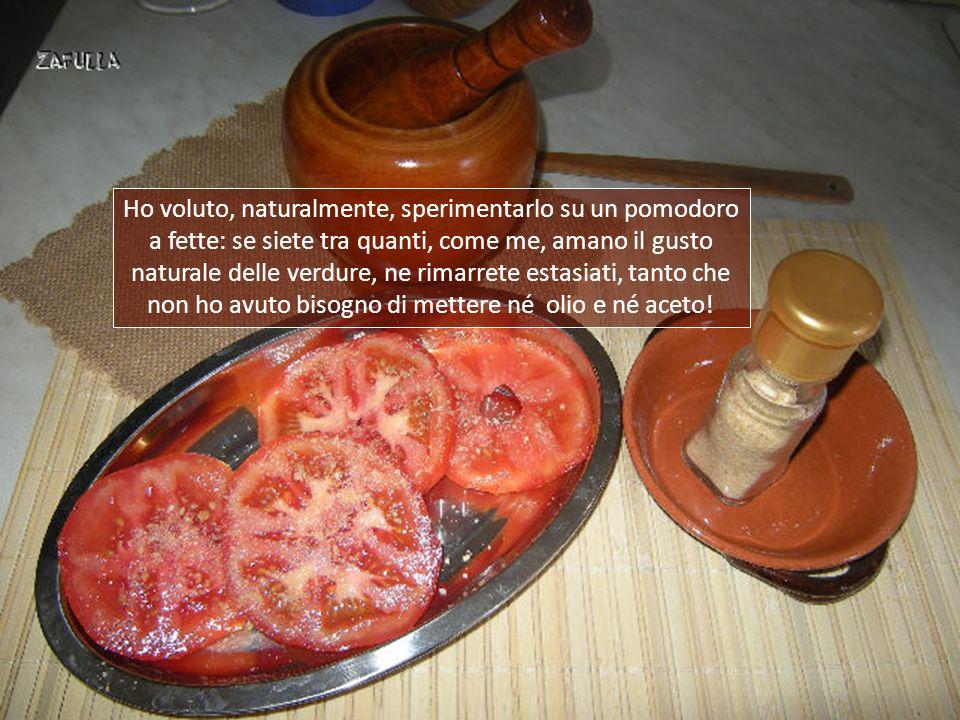 Il GOMASIO può sostituire il comune sale da cucina perché ogni particella di sesamo appare al palato ben sapida, eppure ricordate: abbiamo usato 1/10