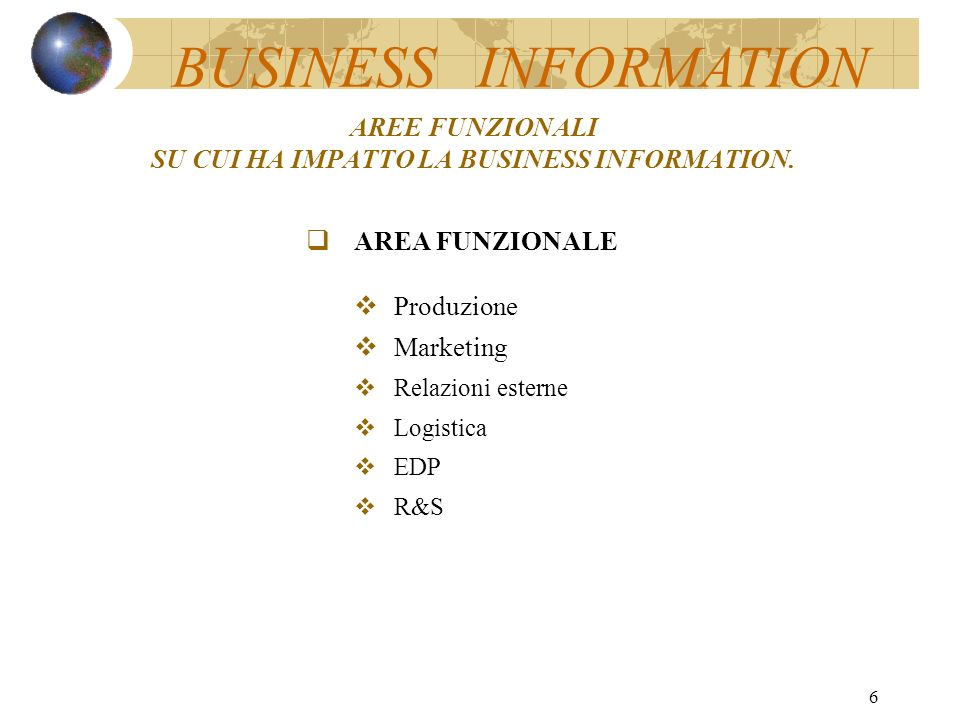 5 FIGURE MANAGERIALI SU CUI HA IMPATTO LA BUSINESS INFORMATION.