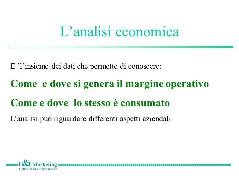 Analisi economica - struttura Il piano dei conti Opportunamente strutturato ed integrato consente di ottenere valide ANALISI ECONOMICHE Per Linee di risultato