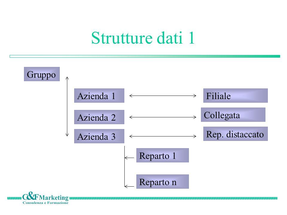 Gli elaborati Il sistema fornisce una struttura per realizzare tutti gli elaborati che si desidera, nella forma consentita dal sistema e riguardanti ogni combinazione di dati insita nel sistema