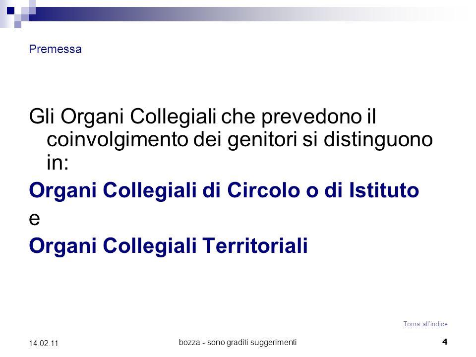 bozza - sono graditi suggerimenti25 14.02.11 Il Consiglio di Circolo o di Istituto (Artt.
