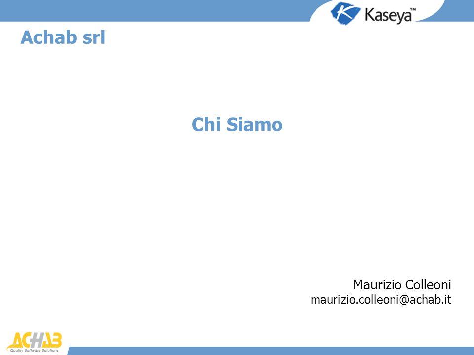 Chi Siamo Achab srl Maurizio Colleoni maurizio.colleoni@achab.it