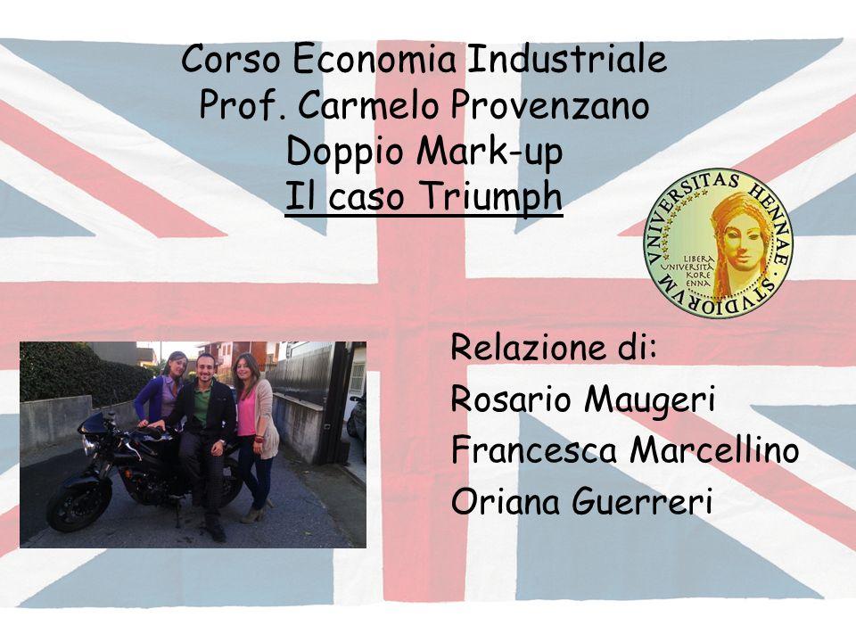 Corso Economia Industriale Prof. Carmelo Provenzano Doppio Mark-up Il caso Triumph Relazione di: Rosario Maugeri Francesca Marcellino Oriana Guerreri
