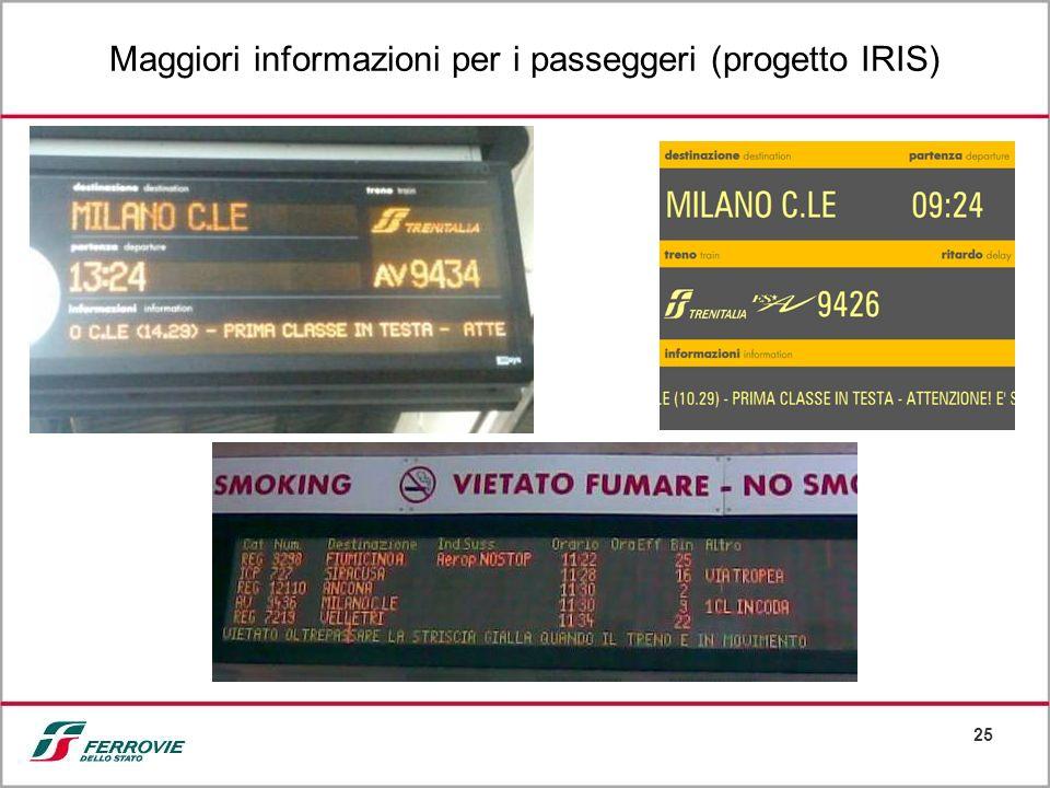 25 Maggiori informazioni per i passeggeri (progetto IRIS)