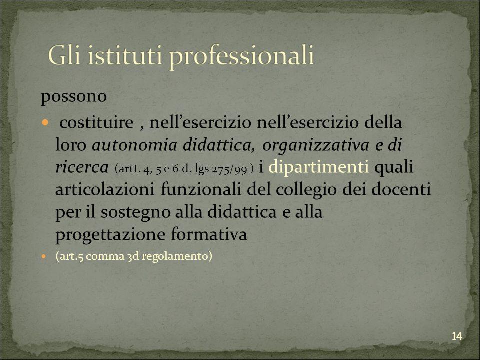 possono costituire, nellesercizio nellesercizio della loro autonomia didattica, organizzativa e di ricerca (artt.