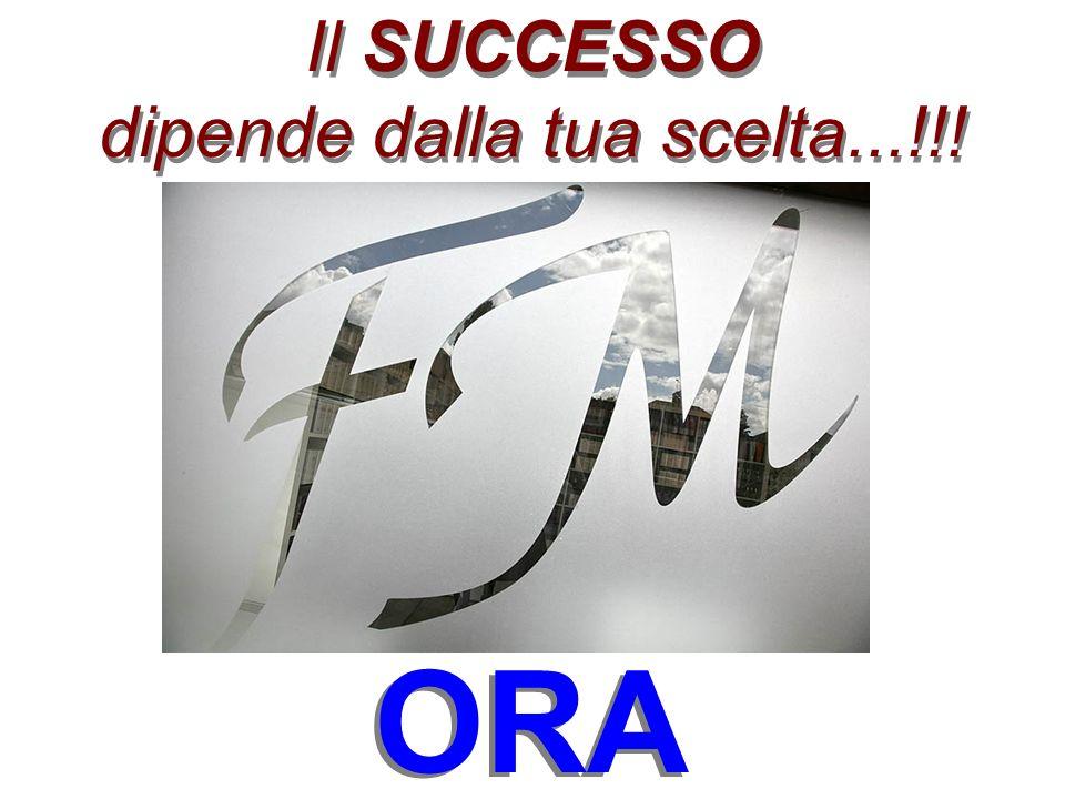 Il SUCCESSO dipende dalla tua scelta...!!! ORA
