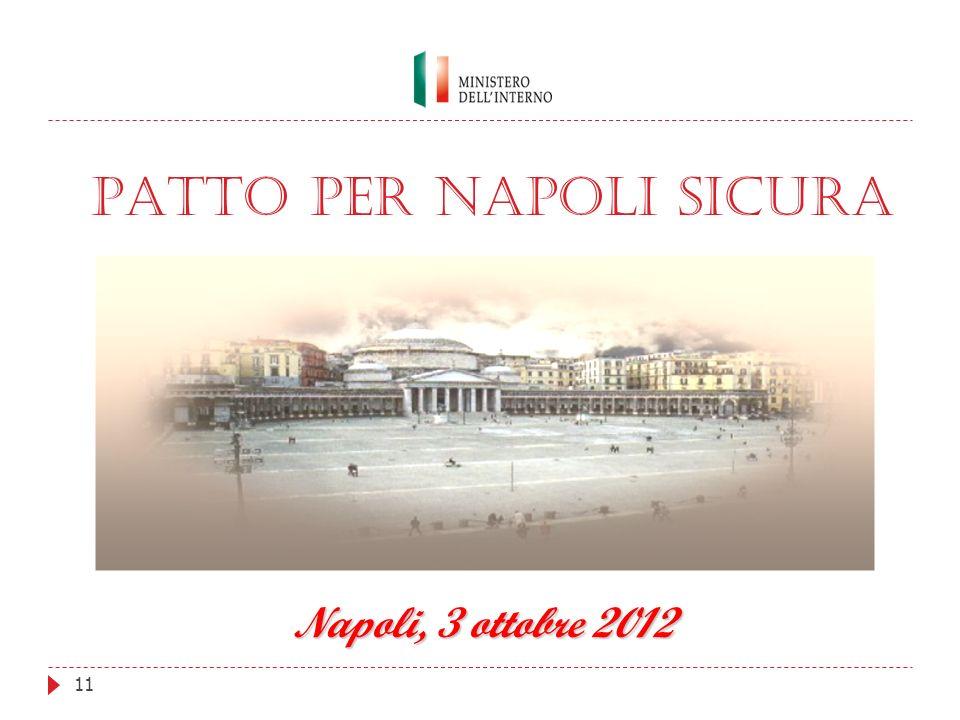 11 PATTO PER NAPOLI SICURA Napoli, 3 ottobre 2012