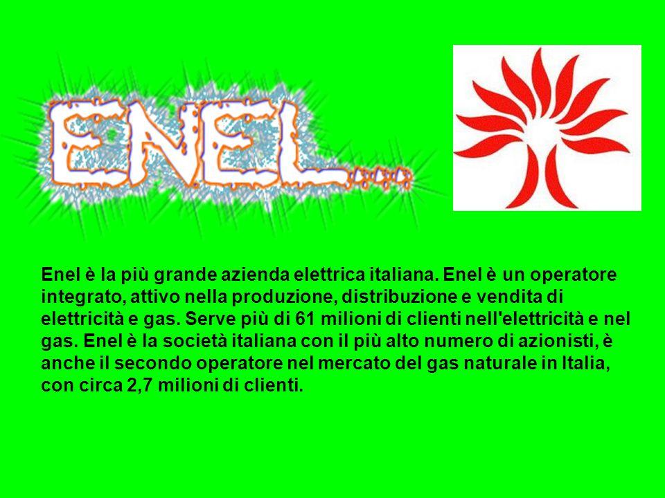 Enel è la più grande azienda elettrica italiana. Enel è un operatore integrato, attivo nella produzione, distribuzione e vendita di elettricità e gas.