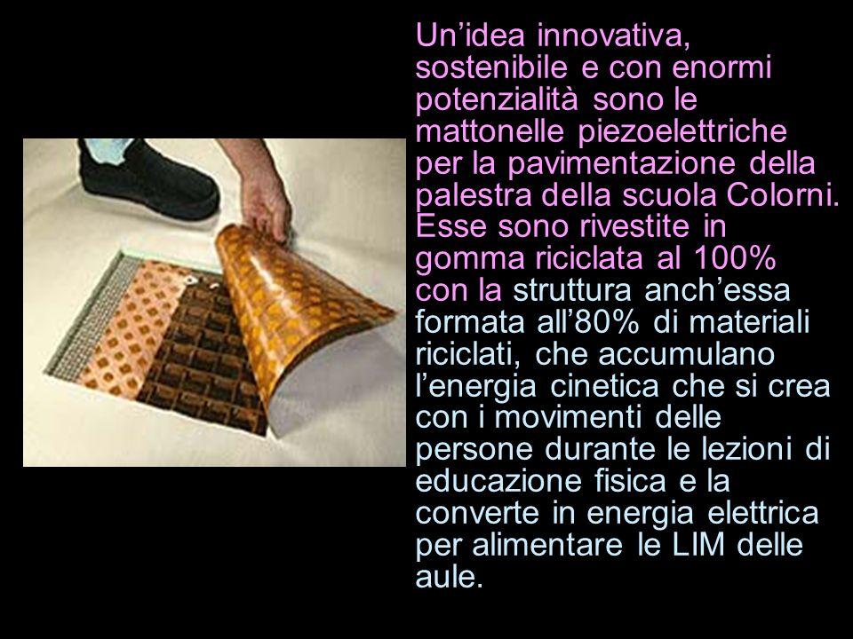Unidea innovativa, sostenibile e con enormi potenzialità sono le mattonelle piezoelettriche per la pavimentazione della palestra della scuola Colorni.