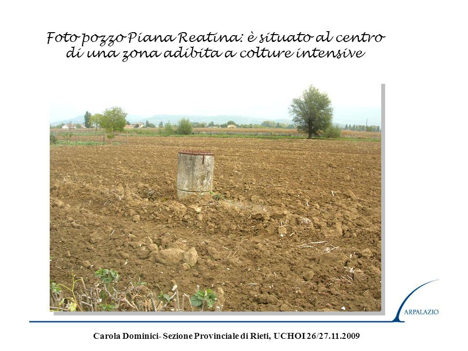 Foto pozzo Piana Reatina: è situato al centro di una zona adibita a colture intensive Carola Dominici- Sezione Provinciale di Rieti, UCHOI 26/27.11.20