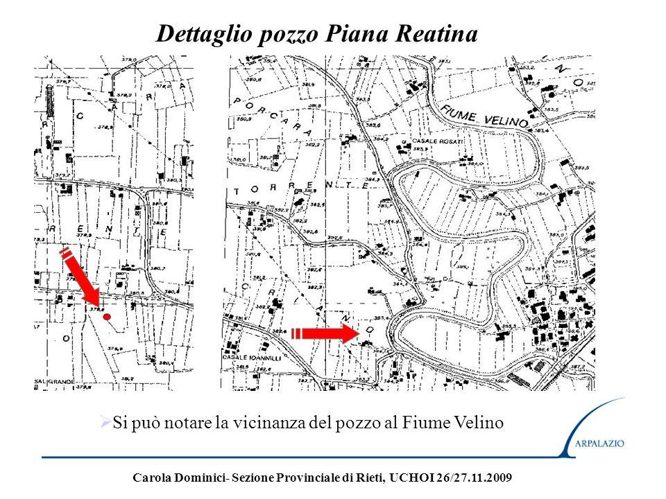 Dettaglio pozzo Piana Reatina Si può notare la vicinanza del pozzo al Fiume Velino Carola Dominici- Sezione Provinciale di Rieti, UCHOI 26/27.11.2009