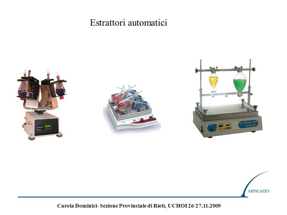 Estrattori automatici Carola Dominici- Sezione Provinciale di Rieti, UCHOI 26/27.11.2009