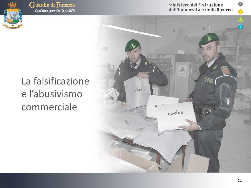 La falsificazione e labusivismo commerciale 12