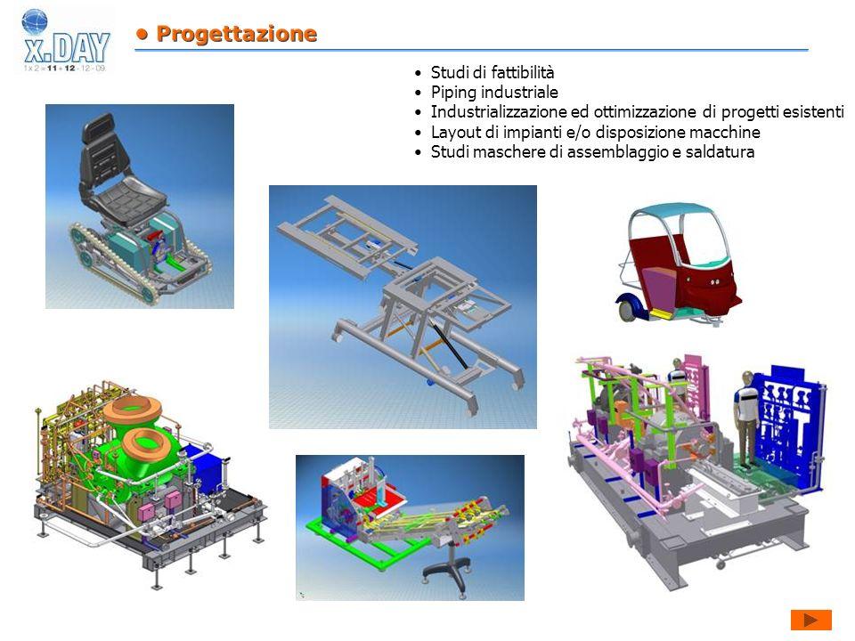 Studi di fattibilità Piping industriale Industrializzazione ed ottimizzazione di progetti esistenti Layout di impianti e/o disposizione macchine Studi