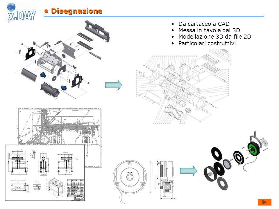 Da cartaceo a CAD Messa in tavola dal 3D Modellazione 3D da file 2D Particolari costruttivi