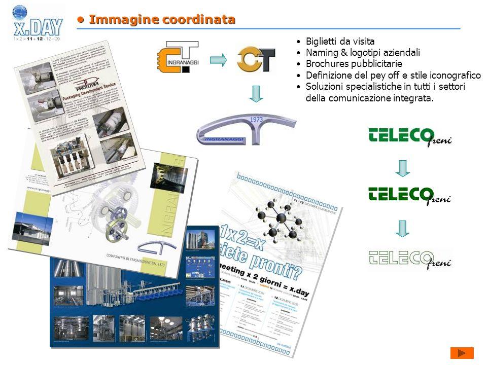 Biglietti da visita Naming & logotipi aziendali Brochures pubblicitarie Definizione del pey off e stile iconografico Soluzioni specialistiche in tutti