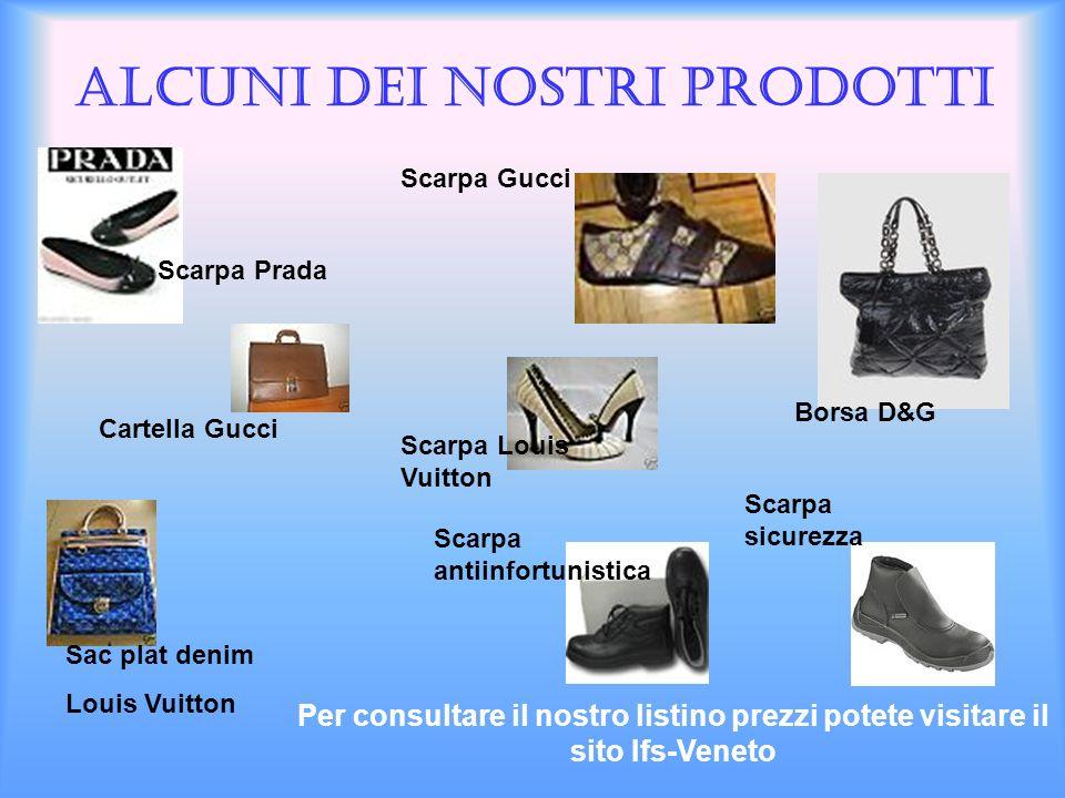Alcuni dei nostri prodotti Cartella Gucci Borsa D&G Sac plat denim Louis Vuitton Scarpa Gucci Scarpa Louis Vuitton Scarpa Prada Scarpa antiinfortunist